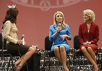 12 July, 2008:    Miss Yakima County Marcie Anglen answered her question from Miss Washington 2007 Elyse Umemoto during the on-stage interview competition during the 2008 Miss Washington pageant at the Pantages Theater in Tacoma, Washington.  Miss Yakima County Marcie Anglen was 4rth runner up in the 2008 Miss Washington Pageant.