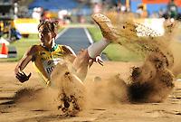 CALI - COLOMBIA - 16-07-2015: Darcy Roper, de Australia, medalla de plata en la prueba de Salto Largo, en el estadio Pascual Guerrero sede, sede del IX campeonato Mundial de Atetismo Juvenil 2015.  / Darcy Roper, of Australia, silver medal in the test of the Long Jump Boys, in the Pascual Guerrero home of the IX World Youth Campionshps -2015. Photos: VizzorImage / Luis Ramirez / Staff.