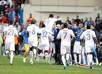 France's national team players celebrate during match. October 16, 2012. (ALTERPHOTOS/Alvaro Hernandez) /NORTEPhoto