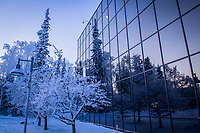 UAA's Social Sciences Building on a frosty January morning.