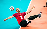 Lima, Peru -  25/August/2019 -   Mikael Bartholdy (#2) in action as Canada takes on Costa Rica in men's sitting volleyball at the Parapan Am Games in Lima, Peru. Photo: Dave Holland/Canadian Paralympic Committee.