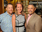 From left: Shelby Kibodeaux, Tera and Bruce Padilla at a special evening in honor of Alley Theatre's Wild Things at the Louis Vuitton store in The Galleria Wednesday Sept. 30,2015.(Dave Rossman photo)