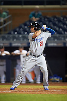 Glendale Desert Dogs Cody Bellinger (21), of the Los Angeles Dodgers organization, during a game against the Peoria Javelinas on October 18, 2016 at Peoria Stadium in Peoria, Arizona.  Peoria defeated Glendale 6-3.  (Mike Janes/Four Seam Images)
