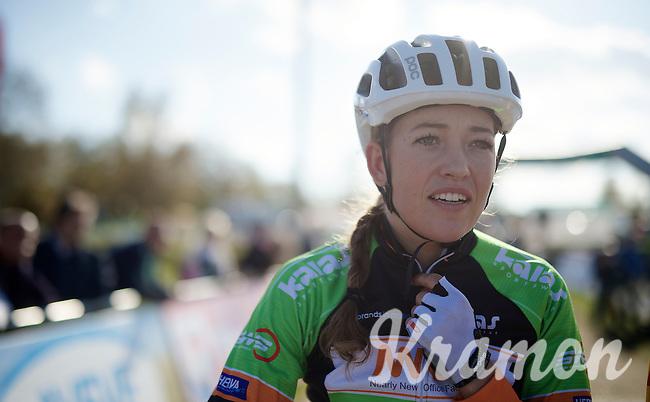 Sophie de Boer (NLD) at the start<br /> <br /> GP Zonhoven 2014