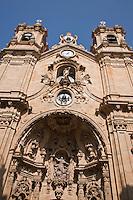 Europe/Espagne/Guipuscoa/Pays Basque/Saint-Sébastien: La basilique Santa María est une impressionnante œuvre baroque du XVIIIe siècle, qui domine la rue Mayor, au cœur de la Vieille ville de Saint-Sébastien.