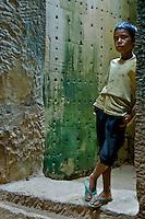 Temple Boy, at Preak Khan temple near Angkor Wat,CAMBODIA 2007,SIAM REAP