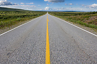 Richardson Highway, south of Delta Junction, Alaska.