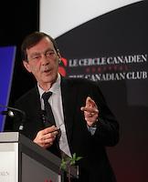 March, 24, 2014 -<br /> Robert Proulx, Ph.D., Rector of Universite du Quebec a Montreal (UQAM), delivers a speech to the Canadian Club of Montreal<br /> <br /> <br /> Robert Proulx, Ph.D, recteur de l'Université du Québec à Montréal (UQAM), prononce une allocution à la tribune du Cercle canadien de Montréal
