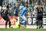 St Johnstone v Celtic…20.08.16..  McDiarmid Park  SPFL<br />Steven MacLean scores saints second goal<br />Picture by Graeme Hart.<br />Copyright Perthshire Picture Agency<br />Tel: 01738 623350  Mobile: 07990 594431
