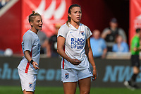 BRIDGEVIEW, IL - JULY 18: Sofia Huerta #11 of the OL Reign looks on during a game between OL Reign and Chicago Red Stars at SeatGeek Stadium on July 18, 2021 in Bridgeview, Illinois.