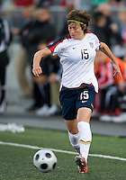Megan Rapinoe. The US Women's National Team defeated the Canadian Women's National Team, 4-0, at BMO Field in Toronto during an international friendly soccer match on May 25, 2009.