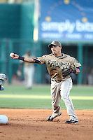 Everth Cabrera #1 of the Tucson Padres plays in a Pacific Coast League game against the Salt Lee Bees at Kino Stadium on April 17, 2011  in Tucson, Arizona. .Photo by:  Bill Mitchell/Four Seam Images.