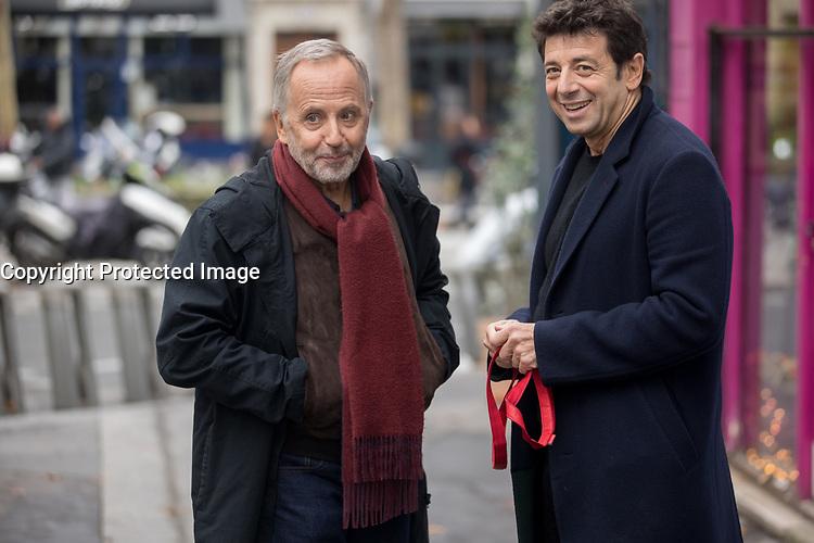 PHOTOS DE PRESSE -<br /> <br /> Fabrice Luchini at <br /> Patrick Bruel dans<br />  Le Meilleur reste a venir<br /> (The Best is Yet to Come), 2019