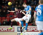 St Johnstone v Hearts…05.04.17     SPFL    McDiarmid Park<br />Liam Craig and Don Cowie<br />Picture by Graeme Hart.<br />Copyright Perthshire Picture Agency<br />Tel: 01738 623350  Mobile: 07990 594431