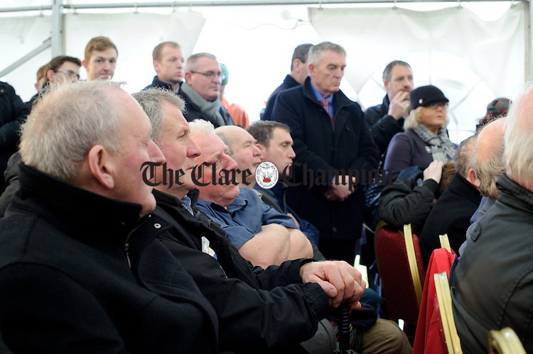 Locals look on during the visit of the Taoiseach to Loop Head to launch the Fine Gael tourism initiative. Photograph by John Kelly.