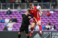 Orlando, Florida - Saturday January 13, 2018: Jordan Jones scores a goal. Match Day 1 of the 2018 adidas MLS Player Combine was held Orlando City Stadium.