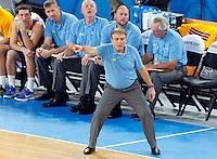 "Ukraina`s national basketball team head coach Mike Fratello gestures during European basketball championship ""Eurobasket 2013"" quarter-final basketball game between Croatia and Ukraine in Stozice Arena in Ljubljana, Slovenia, on September 19. 2013. (credit: Pedja Milosavljevic  / thepedja@gmail.com / +381641260959)"