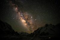 The Milky Way above giant peaks of the Karakoram