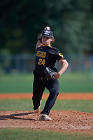 Matthew Kahn (24) during the WWBA World Championship at Terry Park on October 11, 2020 in Fort Myers, Florida.  Matthew Kahn, a resident of Durham, North Carolina who attends C E Jordan High School, is committed to High Point.  (Mike Janes/Four Seam Images)