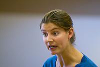 Drama teacher directing school play rehearsals, state Roman Catholic Secondary School.