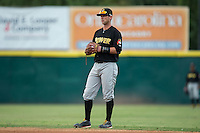 West Virginia Power second baseman on defense against the Hickory Crawdads at L.P. Frans Stadium on August 15, 2015 in Hickory, North Carolina.  The Power defeated the Crawdads 9-0.  (Brian Westerholt/Four Seam Images)