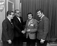 inauguration de CJRP, le  15 juin 1969<br />  - Normand Knight<br /> <br /> Photographe : Photo Moderne<br />  - AGENCE QUEBEC PRESSE