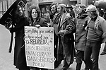"""Gay Liberation Front. Demonstration by Gay and Lesbian activists against Pan books. Central London 1971. Sex Doctor David Reuben publication of his book, """"Everything You Always Wanted To Know About Sex"""", which suggested that all gay men were """"obsessed with shoving vegetables up their ..."""""""