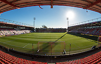 General view of the Stadium pre match with the new SISGrass pitch newly laid it has become the first Prem club to install and play on SISGrass pitch which will be used in the 2018 World Cup Finals during the EPL - Premier League match between Bournemouth and Liverpool at the Goldsands Stadium, Bournemouth, England on 4 December 2016. Photo by Andy Rowland.