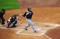 Apr. 30, 2011; Houston, TX, USA: Milwaukee Brewers first baseman Prince Fielder against the Houston Astros at Minute Maid Park. Mandatory Credit: Mark J. Rebilas-