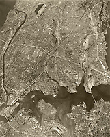 historical aerial photograph of The Bronx, New York City, New York, 1959