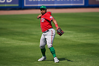 Washington Nationals outfielder Yasmany Tomás (25) during a Major League Spring Training game against the New York Mets on March 18, 2021 at Clover Park in St. Lucie, Florida.  (Mike Janes/Four Seam Images)