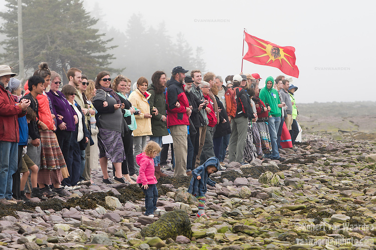 The Line in the Sand. On May 30, 2015, over 500 Canadian citizens and First Nations marched in Red Head, Saint John, at the End of the Line for the proposed Energy East pipeline. The people were protesting the proposed mega pipeline and the tank terminal that would destroy and the Red Head community and endanger the Bay of Fundy. If approved, TransCanada's Energy East pipeline would travel 4600km from Alberta to Saint John, New Brunswick, shipping 1.1 million barrels of crude oil and bitumen for export through the Bay of Fundy, a critical habit for Right whales and home to thousands of jobs in Tourism and Fishing.