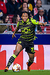 Gelson Martins of Sporting CP in action during the UEFA Europa League quarter final leg one match between Atletico Madrid and Sporting CP at Wanda Metropolitano on April 5, 2018 in Madrid, Spain. Photo by Diego Souto / Power Sport Images