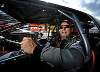 Oct. 31, 2008; Las Vegas, NV, USA: NHRA pro stock driver Jim Yates during qualifying for the Las Vegas Nationals at The Strip in Las Vegas. Mandatory Credit: Mark J. Rebilas-