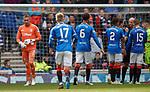 05.05.2019 Rangers v Hibs: Allan McGregor sent off by Bobby Madden