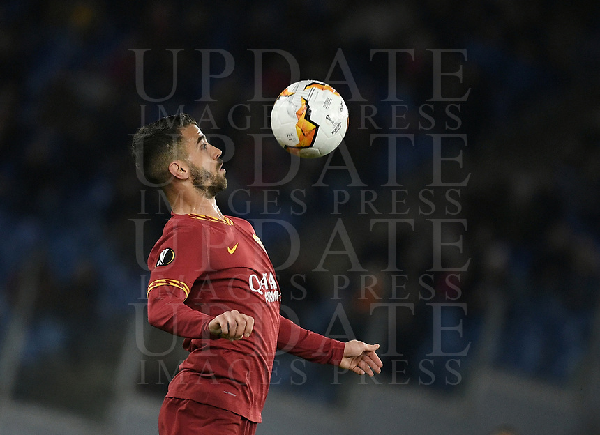 Football Soccer: UEFA Europa League round of 32 first leg AS Roma vs KAA Gent, Olympic stadium, Rome, 20 February, 2020.<br /> Roma's Leonardo Spinazzola in action during the Europa League football match between Roma and Gent at the Olympic stadium in Rome on 20 February, 2020.<br /> UPDATE IMAGES PRESS/Isabella Bonotto