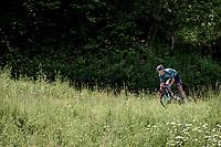 Sebastian Schönberger (AUT/B&B) coming down the Côte d'Héry-sur-Ugine (2Cat/962m/10km@5%)<br /> <br /> 73rd Critérium du Dauphiné 2021 (2.UWT)<br /> Stage 8 (Final) from La Léchère-Les-Bains to Les Gets (147km)<br /> <br /> ©kramon