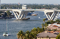 Ft. Lauderdale, Florida.  SE 17th Street Causeway Bridge over Stranahan River.