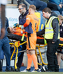 Medica attend to Falkirk goalkeeper David Mitchell