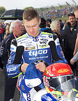Christian Iddon of Tyco BMW Motorrad on the grid for race two of the MCE British Superbikes in Association with Pirelli round 12 2017 - BRANDS HATCH (GP) at Brands Hatch, Longfield, England on 15 October 2017. Photo by Alan  Stanford / PRiME Media Images.