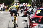 Race leader Yellow Jersey Mathieu Van Der Poel ((NED) Alpecin-Fenix during Stage 4 of the 2021 Tour de France, running 150.4km from Redon to Fougeres, France. 29th June 2021.  <br /> Picture: A.S.O./Charly Lopez   Cyclefile<br /> <br /> All photos usage must carry mandatory copyright credit (© Cyclefile   A.S.O./Charly Lopez)