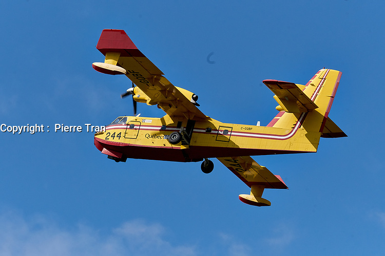 Demonstration de avion citerne Canadair CL-215, en 2019<br /> <br /> <br /> PHOTO : Agence Quebec Presse - Pierre Tran
