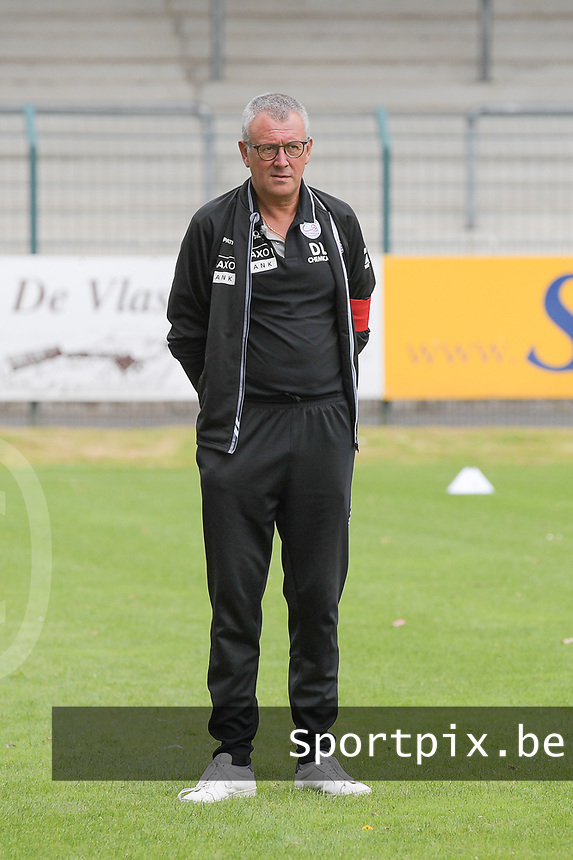 sportsmanagar Luc Declercq of Zulte Waregem  pictured during a female soccer game between SV Zulte - Waregem and Club Brugge YLA on the fourth matchday of the 2021 - 2022 season of the Belgian Scooore Womens Super League , saturday 11 of September 2021  in Harelbeke , Belgium . PHOTO SPORTPIX | DIRK VUYLSTEKE