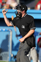 Umpire Robert Porter during a game at Dwyer Stadium in Batavia, New York;  July 30, 2010.  Photo By Mike Janes/Four Seam Images