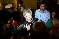 ATENCAO EDITOR: FOTO EMBARGADA PARA VEICULOS INTERNACIONAIS. SAO PAULO, 25 DE OUTUBRO DE 2012 - ELEICOES 2012 HADDAD - A Ministra da Cultura Marta Suplicy durante coletiva de imprensa no hotel Intercontinental onde lideranca do Partido dos Trabalhadores aguardam apuracao das eleicoes, na tarde deste domingo, 28.. FOTO: ALEXANDRE MOREIRA - BRAZIL PHOTO PRESS