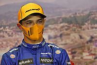 25th September 2021; Sochi, Russia; F1 Grand Prix of Russia  qualifying sessions;  F1 Grand Prix of Russia 4 Lando Norris GBR, McLaren F1 Team pole sitter