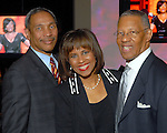 John Guess Jr., Melanie Lawson and The Rev. Bill Lawson at the NAACP's Hollywood Comes to Houston party at Advantage BMW Thursday  Feb. 12, 2009.(Dave Rossman/For the Chronicle)