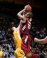 STANFORD, CA - January 29th, 2012: Josh Owens of Stanford shoots the ball during a basketball game against California at Haas Pavilion in Berkeley, California.   California won 69-59 against Stanford.