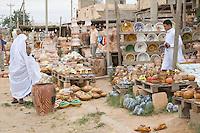 Garyan, Jebal Nefusa, Libya - Ceramics Display, Pottery Vendor