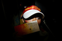 CHINA. Beijing. A spectator with a ticket for an event during the Beijing 2008 Summer Olympics. 2008